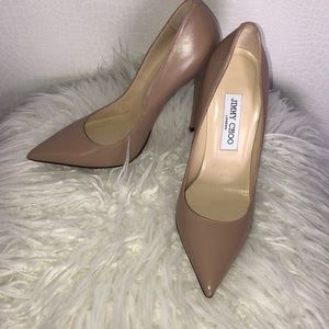 Jimmy Choi Anouk nude leather pumps 5 inches heels